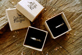 Silver Twig Wedding Rings - Curious Magpie Jewellery - 7