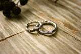 Silver Twig Wedding Rings - Curious Magpie Jewellery - 5