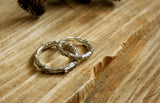 Silver Twig Wedding Rings - Curious Magpie Jewellery - 2