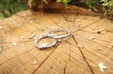 Silver Twig Wedding Rings - Curious Magpie Jewellery - 4