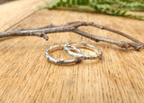Silver Twig Wedding Rings - Curious Magpie Jewellery - 6