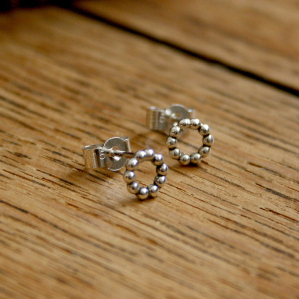 Silver Berry Stud Earrings - Curious Magpie Jewellery - 1