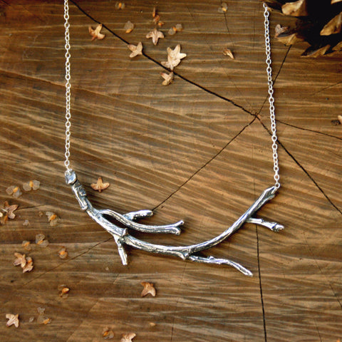 Silver Branch Necklace - Curious Magpie Jewellery - 1