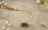 Silver & Brass Pinecone Bracelet - Curious Magpie Jewellery - 2