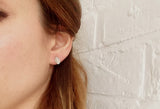 Silver Leaf Stud Earrings - Curious Magpie Jewellery - 5