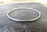Silver Meteorite Bangle - Curious Magpie Jewellery - 3