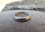 Silver Meteorite Wedding Rings - Curious Magpie Jewellery - 3