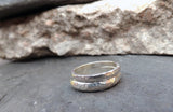 Silver Meteorite Wedding Rings - Curious Magpie Jewellery - 2