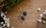 Silver Pinecone Earrings - Curious Magpie Jewellery - 3