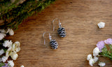 Silver Pinecone Earrings - Curious Magpie Jewellery - 4