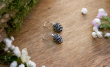 Silver Pinecone Earrings - Curious Magpie Jewellery - 2