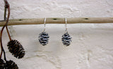 Silver Pinecone Earrings - Curious Magpie Jewellery - 5