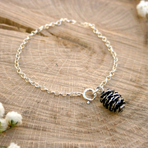 Silver Pinecone Bracelet - Curious Magpie Jewellery - 1