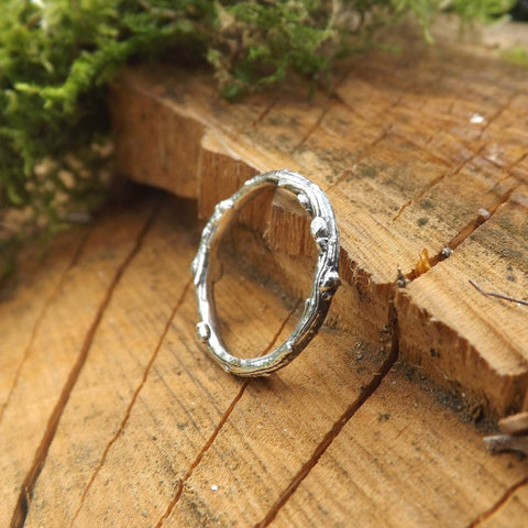 Silver Twig Ring - Curious Magpie Jewellery - 4