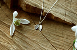 Silver Twin Leaf Necklace - Curious Magpie Jewellery - 4
