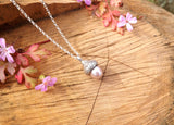 Pink Pearl Acorn Necklace - Curious Magpie Jewellery - 3