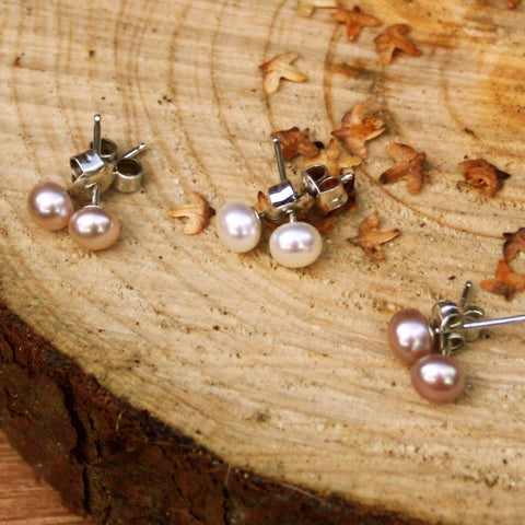 Pixie Pearl Stud Earrings - Curious Magpie Jewellery - 1