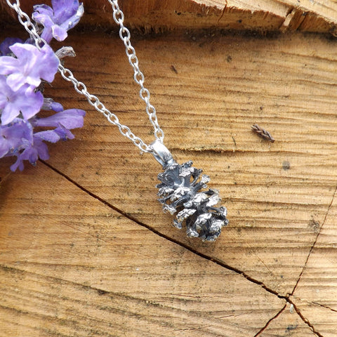 Silver Pinecone Necklace - Curious Magpie Jewellery - 1