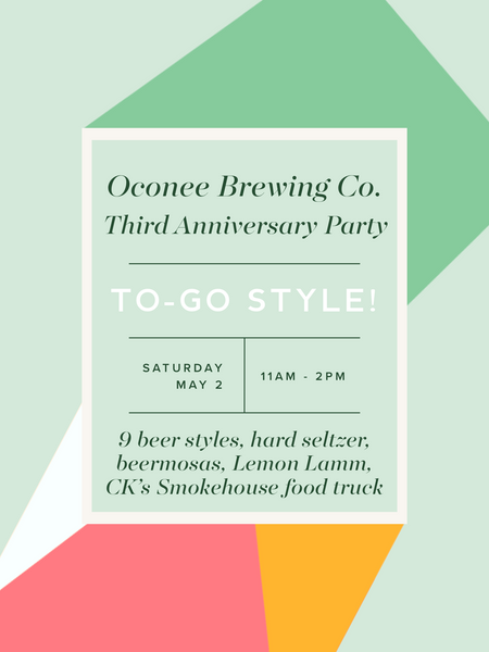 Third Anniversary To-Go Party Beverages!