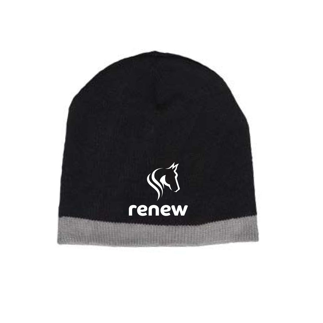 Renew - Stripe Trim Beanie