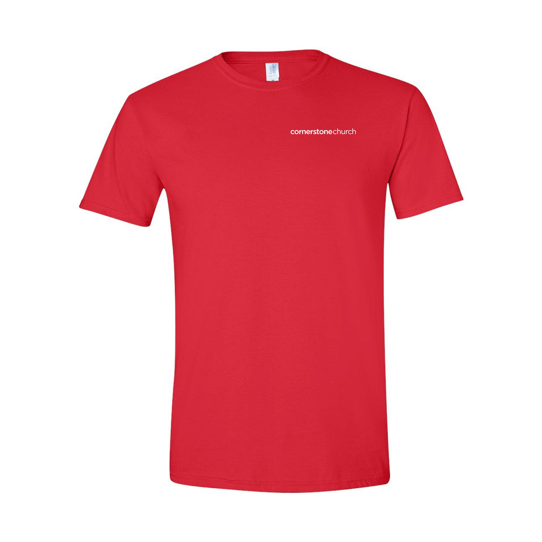 Cornerstone Church Short Sleeve Red Tee