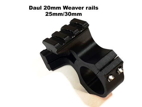 25MM/30MM Daul weaver rail topped scope ring/Accessory rail