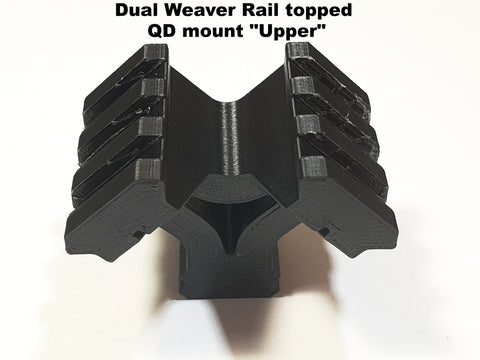 QD mount Daul weaver rail topped scope ring/Accessory rail