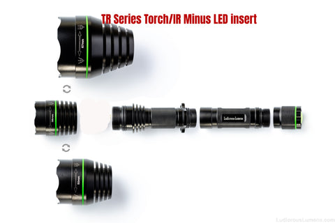 Empty TR series Torch body & head (Minus the led Insert)