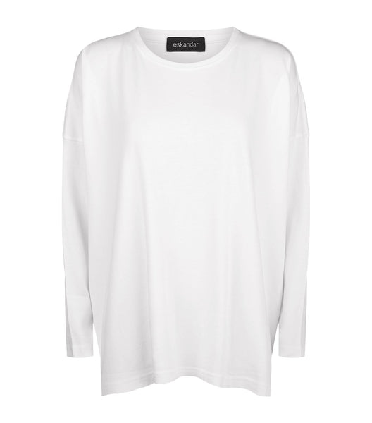 ESKANDAR Oversized  Pima Cotton T-shirt Top  Ladies