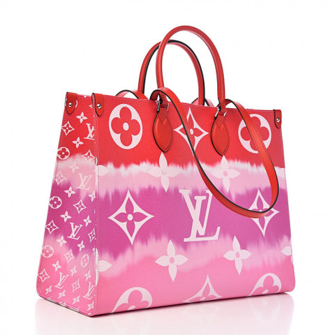 LOUIS VUITTON Monogram Escale Onthego GM Rouge 2020 LIMITED EDITION Bag Handbag ladies