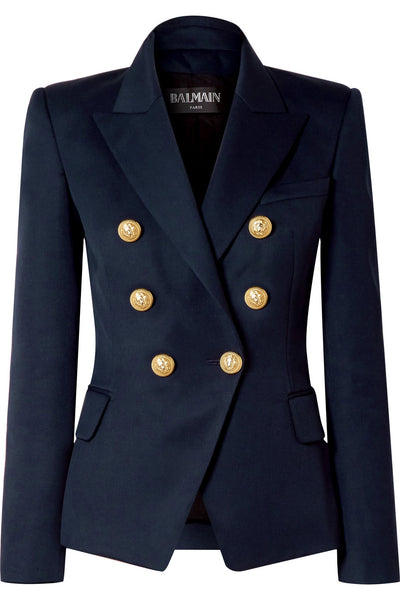 Balmain Double-breasted wool-twill blazer jacket Most Wanted Ladies