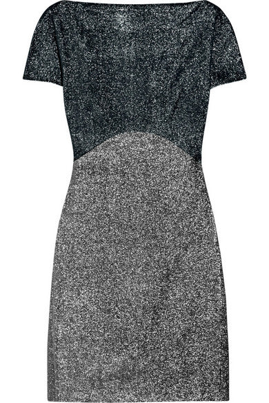 VICTORIA BECKHAM RUNAWAY COUTURE METALLIC SHIFT DRESS LADIES