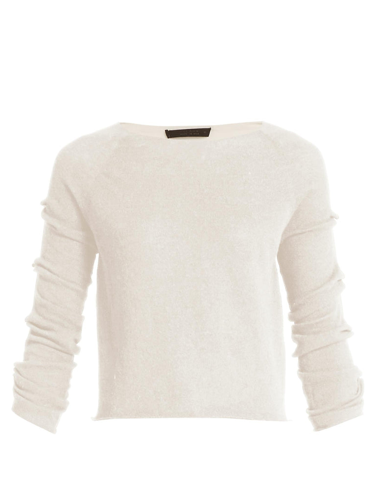 THE ROW Women's JIAN White Cashmere Crewneck Sweater Jumper Size S Small Ladies