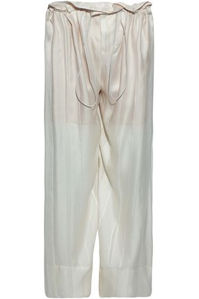 STELLA McCARTNEY Gathered silk wide-leg Pants Trousers Size I 38 UK 6 US 2 XS S Ladies