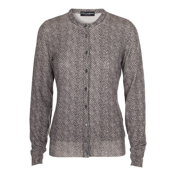 DOLCE & GABBANA Grey Thin Knit Pure Cashmere Cardigan Sweater Jumper  Ladies