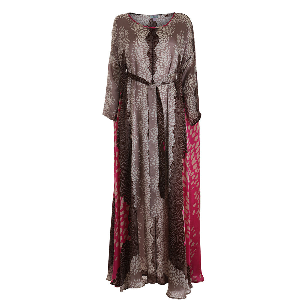 Issa London Oversized Printed Silk Kaftan Dress Size UK 12 US 8 L Large Ladies