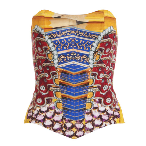 Mary Katrantzou Tube Top in Multicolor Size UK 10 S Small Ladies