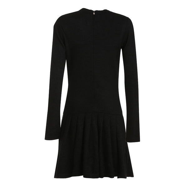 Chanel 2014 THE Little Black Cashmere Mohair Sweater Dress- Pearls Galore Size F 40 Ladies