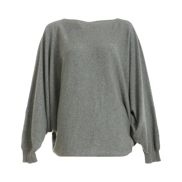 Hermès 2015 Grey Batwing Sleeve Scottish Cashmere Sweater Jumper F 38  LADIES