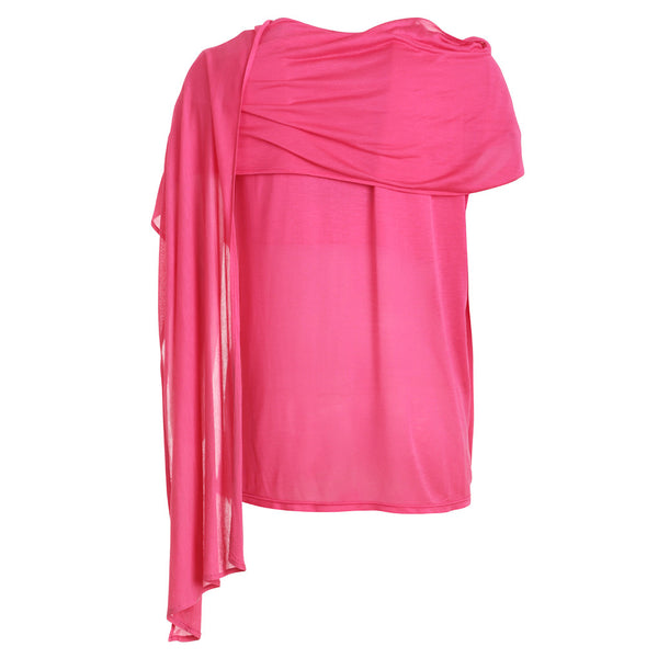 ALEXANDER MCQUEEN MCQ SLEEVELESS DRAPED TOP PINK SIZE M MEDIUM