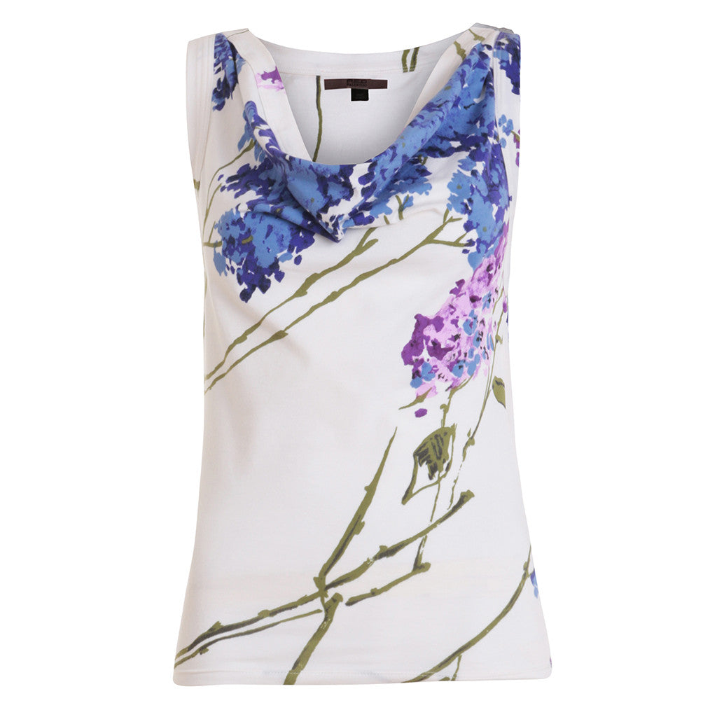 VALENTINO RED SLEEVELESS FLOWER PEINT TOP SIZE I 44 L LARGE LADIES