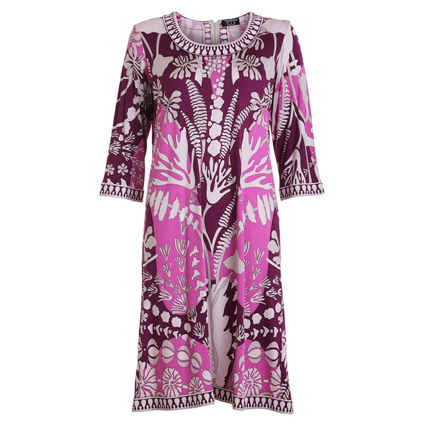 Averardo Bessi Silk Dress Pucci Inspired Amazing Print US 8 I 42 D 36 Ladies