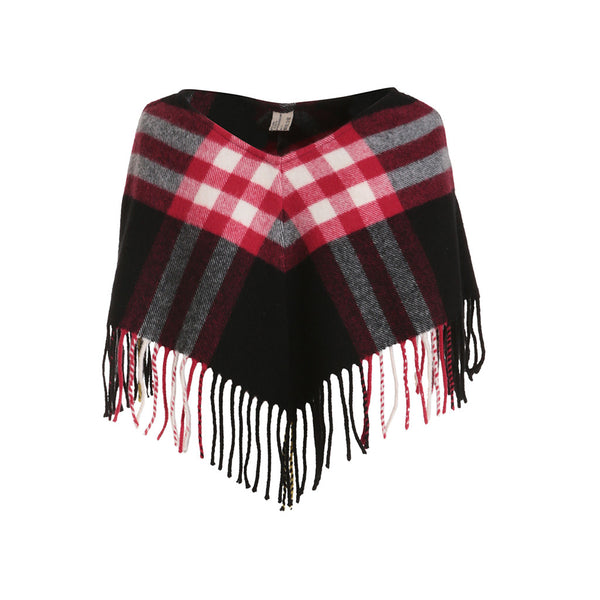 Burberry Cashmere Merino Wool Poncho One Size Fits A Little Girl from 12 month to 7 years old Children