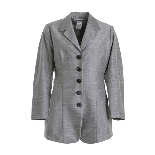 ISSEY MIYAKE STRUCTURED LIGHTWEIGHT GREY WOOL JACKET SIZE S SMALL LADIES