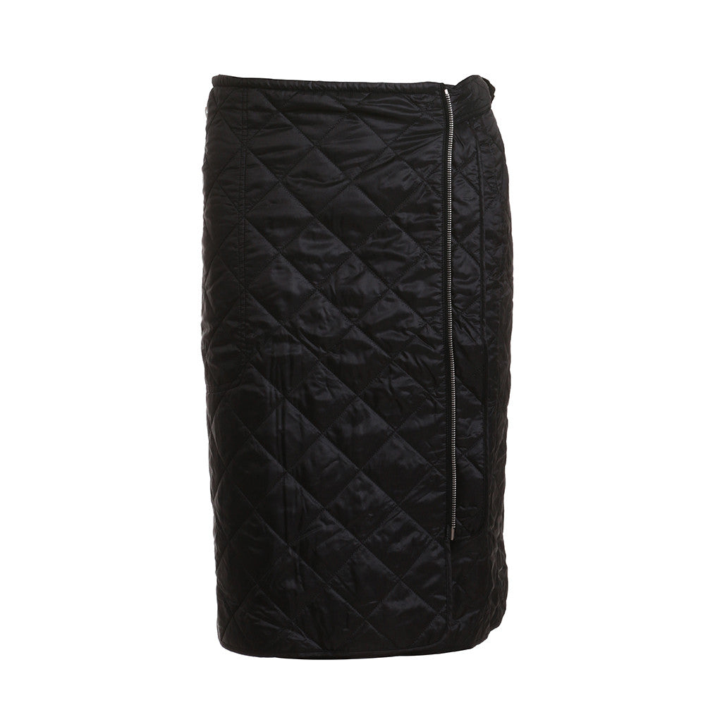 DRIES VAN NOTEN QUILTED WRAP SKIRT IN BLACK SIZE 38 S SMALL LADIES