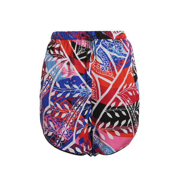 EMILIO PUCCI I 40 UK 8 US 6 S Small SILK MINI SHORTS MULTI COLOR PRINT NEW WITH TAGS LADIES