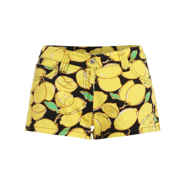 DOLCE & GABBANA BEACHWEAR LEMON PRINT MINI SHORTS SIZE I 2 EU M US S LADIES
