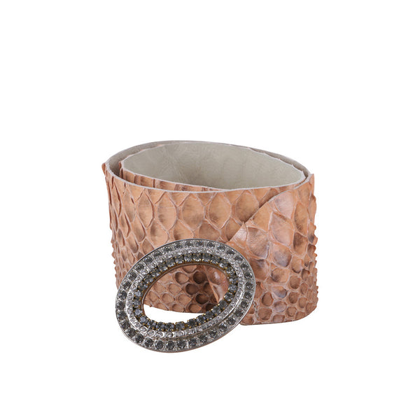 Helens & Co Real Python Snakeskin Jeweled Belt