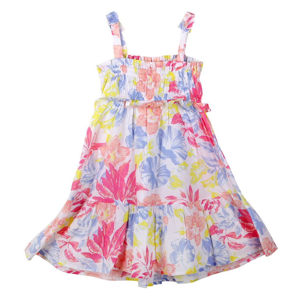 MARC JACOBS LITTLE MARC JACOBS GIRLS' FLOWER PRINT A-LINE DRESS SIZE 6 YEARS OLD CHILDREN