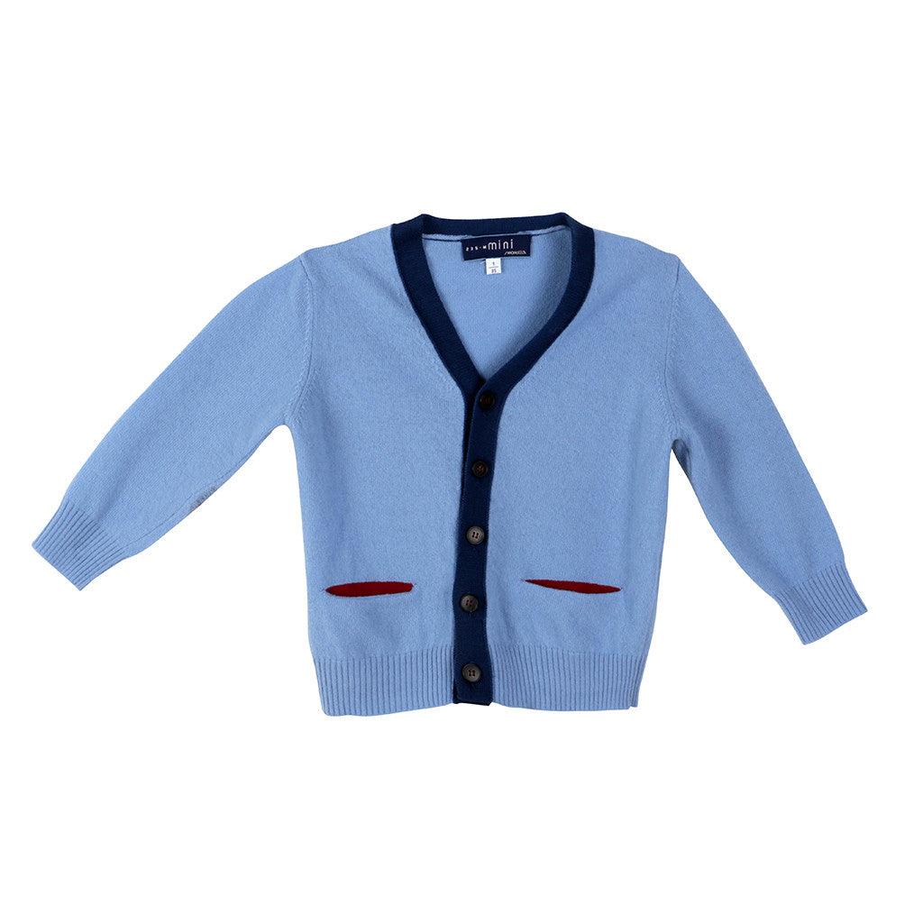Simonetta Mini Virgin woolen blue boys cardigan 1 year 85 Children